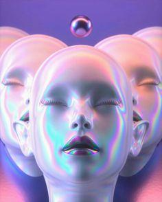 Aesthetic Space, Vaporwave Art, Arte Cyberpunk, Futuristic Art, 3d Artwork, Retro Futurism, Cultura Pop, Art Inspo, Fantasy Art