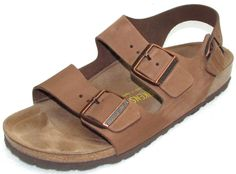 2d02a7e6a23c Details about Birkenstock Size Euro 38   US 7-7.5 Regular Taupe Brown Suede  Leather Sandals