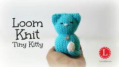 LOOM KNITTING Tiny Kitty Cat on Small Circle Looms Pattern