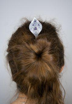 Silver hair stick by Solarmetal