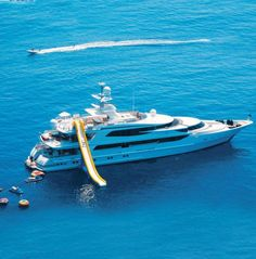 Just what I want, A slide off the side of my yacht    168 Foot Oceanco