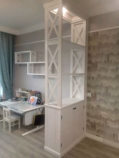 Living Room Partition Design, Room Partition Designs, Room Divider Shelves, Room Divider Doors, Small Closet Design, Closet Designs, Home Bar Furniture, Furniture Makeover, Sheila E