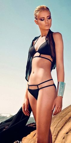 Black Bikini Style #SS14SWIM #BondGirlChic #figleaves