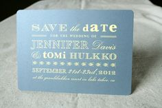 save the date: Gray and Yellow Save the Date Postcard. (gold instead of yellow)