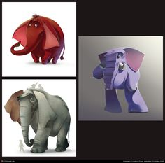 Find more at https://www.facebook.com/CharacterDesignReferences if you ar looking for: #art #character #design #model #sheet #illustration #best #concept #animation #drawing #archive #library #reference #anatomy #traditional #draw #development #artist #animal #animals #elephants