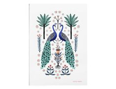 Peacocks  A4 or A3 Artists Print by PapioPress on Etsy
