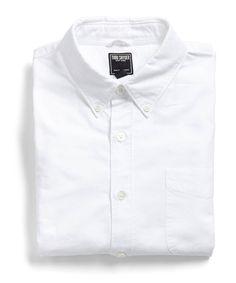 Japanese Selvedge Oxford Shirt in White