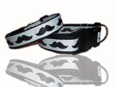 Trendy Moustache Monochrome Dog Collar £10 - Creative Connections #craftfest