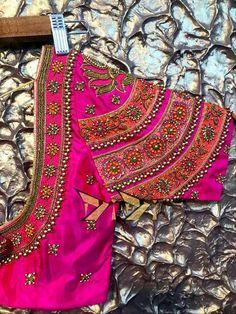 Selected Back design for Mana seer Wedding Saree Blouse Designs, Pattu Saree Blouse Designs, Blouse Designs Silk, Designer Blouse Patterns, Sari Blouse, Saree Dress, Hand Work Blouse Design, Kids Blouse Designs, Hand Designs