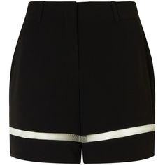 Alexander Wang Onyx Tailored Fish Line Shorts ($570) ❤ liked on Polyvore featuring shorts, black, alexander wang, lightweight shorts, tailored shorts, black shorts and lined shorts