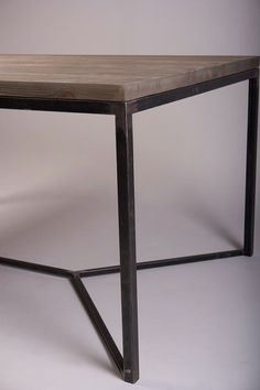 cool Industrial Dining Table. Reclaimed Pinewood and Metal Frame by http://cool-homedecor.top/dining-tables/industrial-dining-table-reclaimed-pinewood-and-metal-frame/