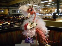 Flamingo Bride!....presiding over her bridal shower!...yeah, I created her...lol