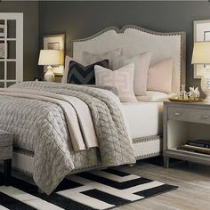 Master Bedroom With White Transitional Bedroom Designs Decorating Ideas . Bedroom Paint Color Trends For 2017 Better Homes Gardens. How To Decorate Your Master Bedroom On A Budget The . Home and Family Trendy Bedroom, Bedroom Sets, Dream Bedroom, Home Bedroom, Bedroom Decor, Bedroom Furniture, Master Bedrooms, Girl Bedrooms, Furniture Plans