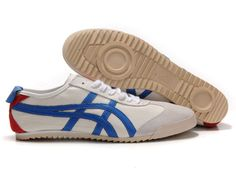 http://asicsoutletonline.us/ Onitsuka Tiger Mexico 66 Deluxe White/Blue/Gray/Red Cheap $70