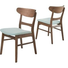 Idalia Dining Chair (Set of - Light Beige/Walnut - Christopher Knight Home : Target Seat comes in several colors Contemporary Dining Chairs, Solid Wood Dining Chairs, Upholstered Dining Chairs, Dining Chair Set, Dining Room Chairs, Side Chairs, Chair Upholstery, Dining Furniture, Furniture Decor