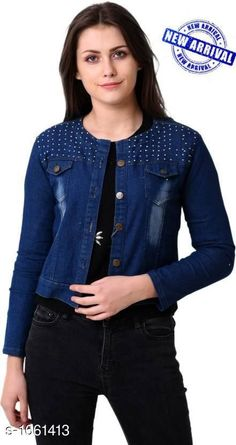 Jackets  Ladies Denim Jacket Fabric: Denim  Sleeves: Full Sleeves Are Included   Size: S, M, L , XL   Length: Up To 24 in Type: Stitched Description: It Has 1 Piece Of Women's Jacket Pattern : Solid Sizes Available: S, M, L, XL   Catalog Rating: ★4.1 (634)  Catalog Name: Free Mask Trendyfrog Ladies Denim Jackets CatalogID_216550 C79-SC1023 Code: 273-1661413-