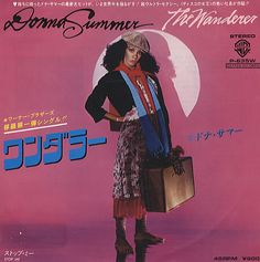 """Donna Summer, The Wanderer, Japanese, Promo, Deleted, 7"""" vinyl single (7 inch record), Geffen, P-635W, 189140"""