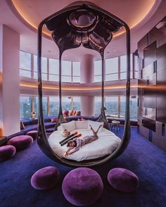 Bedroom Goals 🤩🤩🤩🤩 Love This Beautiful Purple And Blue Decor Of on Home Inteior Ideas 2821