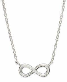 Unwritten Sterling Silver Mini Infinity Pendant Necklace