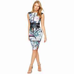 Summer Style Women Vintage Geometric Print Dresses