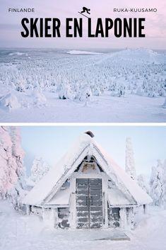 Finlande - Voyage en Laponie Saviez-vous qu'on peut skier en Laponie? Nous avons testé une journée de ski dans la petite station de Ruka. Une journée magnifique dans des paysages comme figés par la glace et un décor tout simplement magique. #skier #laponie #finlande #nature