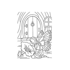 Fairy Door Embossing folder by Darice Fairy with Flower for DIY... ($4.75) ❤ liked on Polyvore featuring home, home decor and stationery