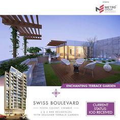 Swiss Boulevard Postal Colony, Chembur  Enchanting Terrace Garden  www.metrogroupindia.com  #metrogroupindia #SwissBoulevard #chembur #metrogroup #mumbai #realestate #luxury #luxurioushouse #property #homesellers #bestexperience