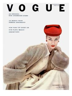 Vogue Cover - November 1951 Poster Print by Clifford Coffin at the Condé Nast Collection