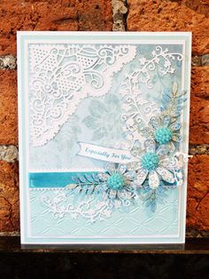 'Chantilly Flourish' and 'Lacy Marguerite' - Topper Dies. Visit tatteredlace.co.uk for available stockists.