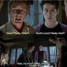 Really Sheriff?? #Stiles #Sheriff #Scott #funny #really Dylan O'brien, Teen Wolf Dylan, Teen Wolf Cast, Teen Wolf Memes, Teen Wolf Funny, Teen Wolf Ships, Wolf Stuff, Comedy Tv, Cute Gay