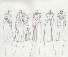 Fashion Sketchbook page - fashion design drawings; dress sketches; fashion portfolio // TheBocaj via deviantART