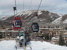 Aspen CO. ive ridden in the red gondola! i just didnt ski down the mountain..