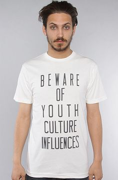 The Beware Tee in Dirty White by Freshjive