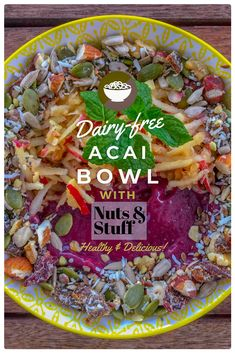 "We've combined the goodness of berries, avocados, Nuts & Stuff and acai into a big and tasty Acai bowl recipe.  Not only is it delicious, filling and easy-to-make, it is also dairy free, gluten free and refined sugar free. Whoa!  There you have it! Click the link to try.  We'd love if you give us a like, share and follow, and we'll have more ""all good"" stuff coming your way!  . .  #nutsaboutmuesli #acaibowl #acai #avocado #recipe #antioxidants #fibre #protein #glutenfree #vegan… Glutenfree, Acai Bowl, Sugar Free, Dairy Free, Avocado, Protein, Berries, Tasty, Vegan"