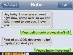 sounds like my husband haha
