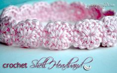 My Merry Messy Life: Crochet Shell Headband - Free Pattern!