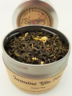 Jasmine Yin Hao Green Tea   |   Have you ever buried your face in a sweet bouquet of flowers and just wished you could drink in that scent forever? This delightful floral blend from Blooming With Joy lets you do just that! As soon as you open this tin, the sweet floral notes will fill you with delight. Click through to read about the 2-step process Jasmine Yin Hao goes through to get ready for your teacup and to order your tin!
