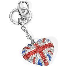 Gusto un po' british per questo portachiavi in acciaio Morellato, con cristalli e riproduzione della bandiera inglese, per la lei che ama londra