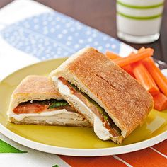 Chicken, Mozzarella, and Basil Panini