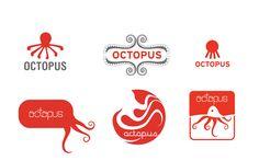 logo for octopus by paprikadesign , via Behance- love the pctopus tentacle brackrting S Logo Design, Graphic Design, Sound Logo, Red Octopus, Blog Logo, Logo Food, Animal Logo, Tentacle, Gravure