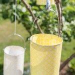 Anleitung für selbstgemachte DIY Laternen aus Papier als einfache Deko für die Garten Party
