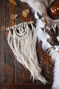 Macrame Wall Hanging ⨯ Boho Wall Hanging Tapestry, Boho Decor > A KnittingWonders™ Original wall hanging design + Best Seller! > Intricately handmade using macramé knotting techniques > Made of hundreds of feet of premium 100% cotton rope > Secured to a Pine Tree branch from the