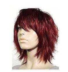 Stunning short women red brown hair wigs