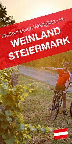 Der Genuss-Rundweg führt durch historische Städte wie Graz und durch alle Weinbaugebiete der Steiermark – vorbei an Apfelgärten, Burgen und Schlössern zu Vinotheken und Kernölmühlen. Austria Travel, Mtb, Wine, Traveling, Sport, Wine Country, Bike Trails, Bike Rides, Castles
