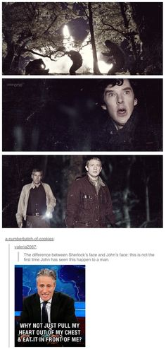 John and Sherlocks reaction to an explosion