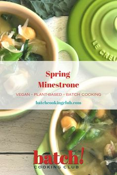 With just a few days until Winter, we've got our eyes set on Spring with this season inspired minestrone. It's the perfect cure for the Winter blues—hearty and comforting, but full of all your favorite Spring greens. | batchcookingclub.com