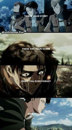 Doloroso. Quien nunca haya visto los ovas de Shingeki no kyojin nunca comprendera lo cruel que esto es.D: