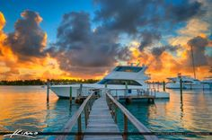 Amazing Sunset from Singer Island at the Sailfish Marina in Palm Beach, Florida. HDR image created using Photomatix Pro and Topaz software.
