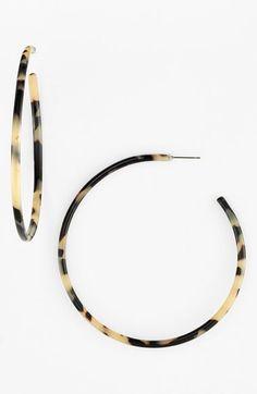 L.+Erickson+L+Erickson+'Jumbo'+Hoop+Earrings+available+at+#Nordstrom