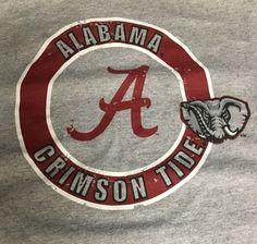 Alabama Crimson Tide Gray Small Short Sleeve Tee T-Shirt H1 #NCAA #AlabamaCrimsonTide
